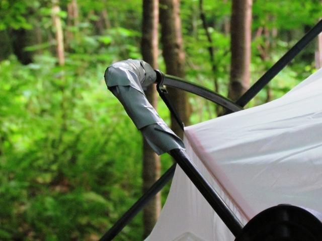 tent broke